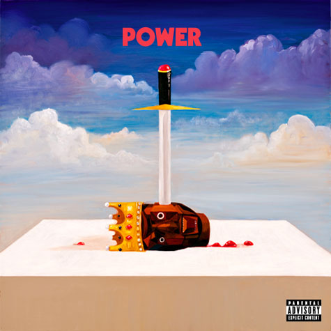 Check out the official single cover artwork for Kanye West's 'Power'